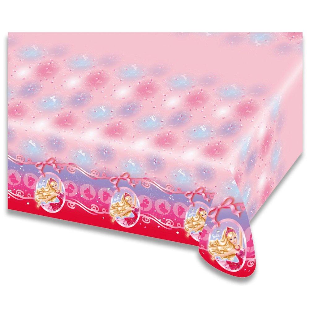 8 x Kunststofftischdecke Barbie Ballerina Kindertischdecke abwischbare Tischdecke 120 x 180 cm günstig
