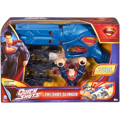 DC Comics Superman: Man of Steel Tri-Shot Slinger
