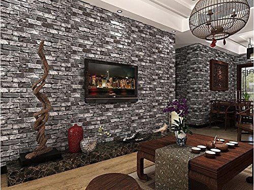 3d-darkgrey-brick-bright-wallpaper-pvc-waterproof-anti-insect-brown-mural-wallcoverings-stones-wall-
