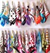 5 Pc Mix Style Color Silk Feel Scarf…