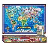 Pictorial Mapa del Mundo - Póster plastificado con Interactivo Pegatinas