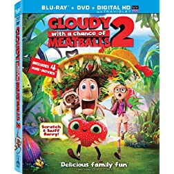 Cloudy with a Chance of Meatballs 2 (Two Disc Combo: Blu-ray / DVD + UltraViolet Digital Copy)