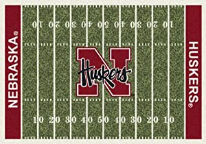 Nebraska Cornhuskers College Team Repeat 10x13 Rug from Miliken by Miliken and Company