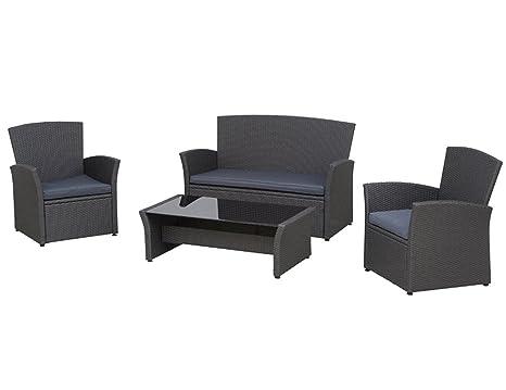 Siena Garden 800688 Lounge-Set Meran, Stahl-Untergestell, Gardino-Geflecht titan