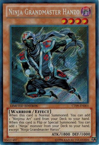 Yu-Gi-Oh! - Ninja Grandmaster Hanzo (CT09-EN003) - 2012 Collectors Tins - Limited Edition - Secret Rare (Master Hanzo compare prices)