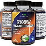 Mind Matrix ● Superior Natural Mental and Concentration Enhancement Herbal Supplement Formula ● Supports Focus, Clarity, and Memory ● Pharmaceutical Grade ● Effective Mood Booster and Potent Brain Vitamin ● Enhances Alertness and Boosts Intellectual Capacity ● Contains Ginkgo Biloba, St. John's Wort, Bacopa Monniera, and DMAE ● Guaranteed by Biogreen Labs