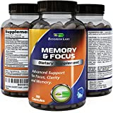 Potent Mind and Memory Supplement – Contains Pure Ginkgo Biloba, St. John's Wort, Bacopa Monniera and DMAE – USA Made by Biogreen Labs
