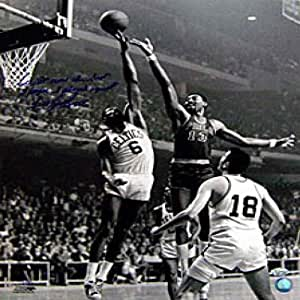 Bill Russell Blocking Wilt Chamberlain Autographed / Signed 16x20 Photo (Limited Edition)