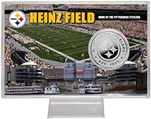 Highland Mint Pittsburgh Steelers Silver Stadium Coin Cards