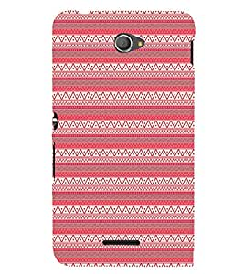 EPICCASE ethnic pattern Mobile Back Case Cover For Sony Xperia E4 (Designer Case)