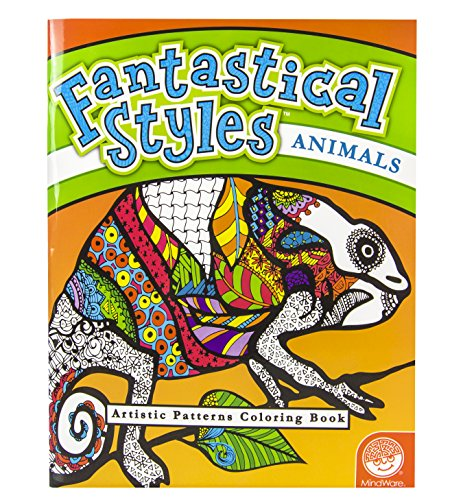 MindWare - Fantastical Styles Animal Coloring Book - 24 Puzzles - Teaches Creativity and Fosters Imagination - 1