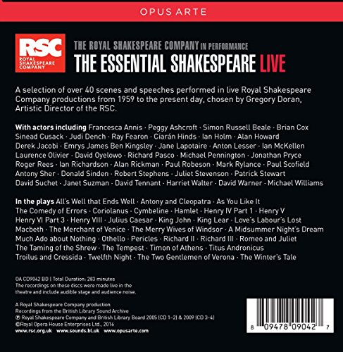 The Essential Shakespeare - Live [Box Set]