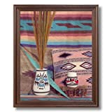 Southwestern Native American Indian Pottery # 1 Picture Cherry Framed Art Print