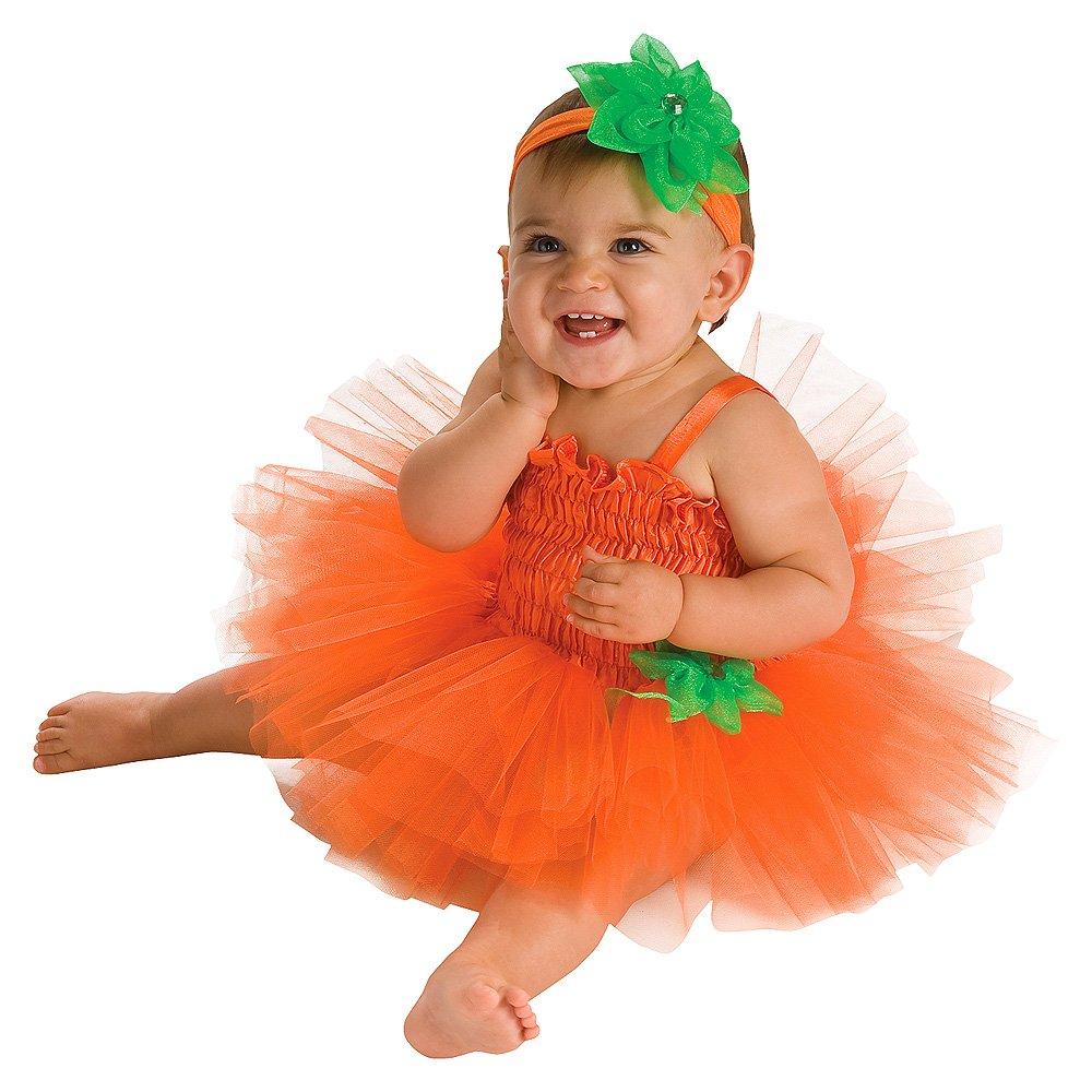Rubie s costume co newborn baby girls pumpkin tutu dress