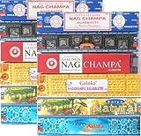 Räucherstäbchen 12 Schachteln Nag Champa Varianten Satya Goloka 182g Incense Sticks - Best Reviews Guide