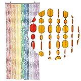 Ein Türvorhang, der nicht nur perfekt abschirmt, sondern auch Blicke auf sich zieht, seine 7 verschiedenen Farben wirken dekorativ.  Der Perlenvorhang schafft Flair und Strandatmospähre. In den Sommermonaten sorgen die kleinen ovalen Pailette...