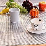 HOKIPO 1 Piece Multipurpose Easy to Cut Cupboard Shelf Drawer Aluminum Sheet Roll - Size: 45 x 300 cm.