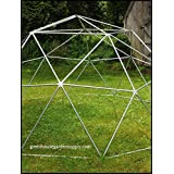 GEODESIC DOME 14 Ft. Frame Only - Greenhouse for Aquaponics (Color: silver)