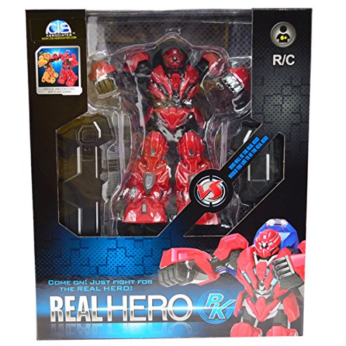 CIS-Red-9-Inch-Tall-Fighting-Robot-With-IR-Controller