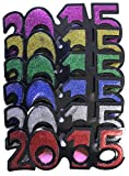 2015 New Years Eve Party Glasses (Classic Glitter)- Pack Of 6