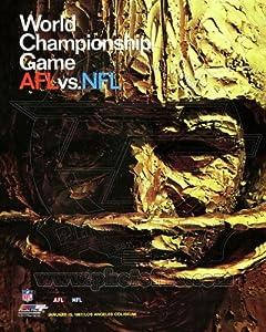 Super Bowl I Kansas City Chiefs, Green Bay Packers Program Cover 1967 Photo 8x10