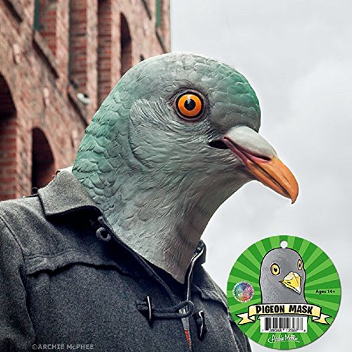 Adult Latex Pigeon Bird Mask Costume Accessory