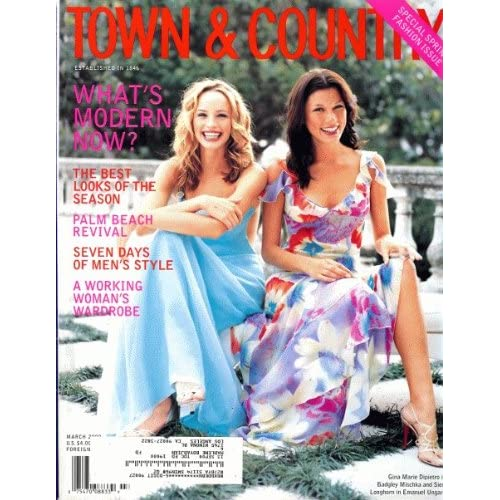 Town & Country 2000 March - Gina Marie Dipierto in Badgley Mischka