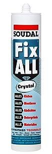 Kleb Dichtstoff FIX ALL CRYSTAL 290ml kristallklar Spar Set (12)  BaumarktÜberprüfung und Beschreibung