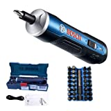 Bosch Electric Screwdriver, Autoday 3.6V Smart 6 Modes Adjustable Torques Cordless Rechargeable Screwdriver Tool Kits (Blue (with 33 drills)) (Color: Blue with 33 drills, Tamaño: Medium)