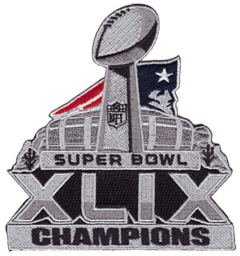 Super Bowl 49 Patriots Champions Jersey Superbowl XLIX Embroidered [4 inches] Patch (Patriot Superbowl Champions compare prices)