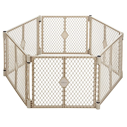 North States Superyard Indoor and Outdoor , 6 panel Playard- Sand