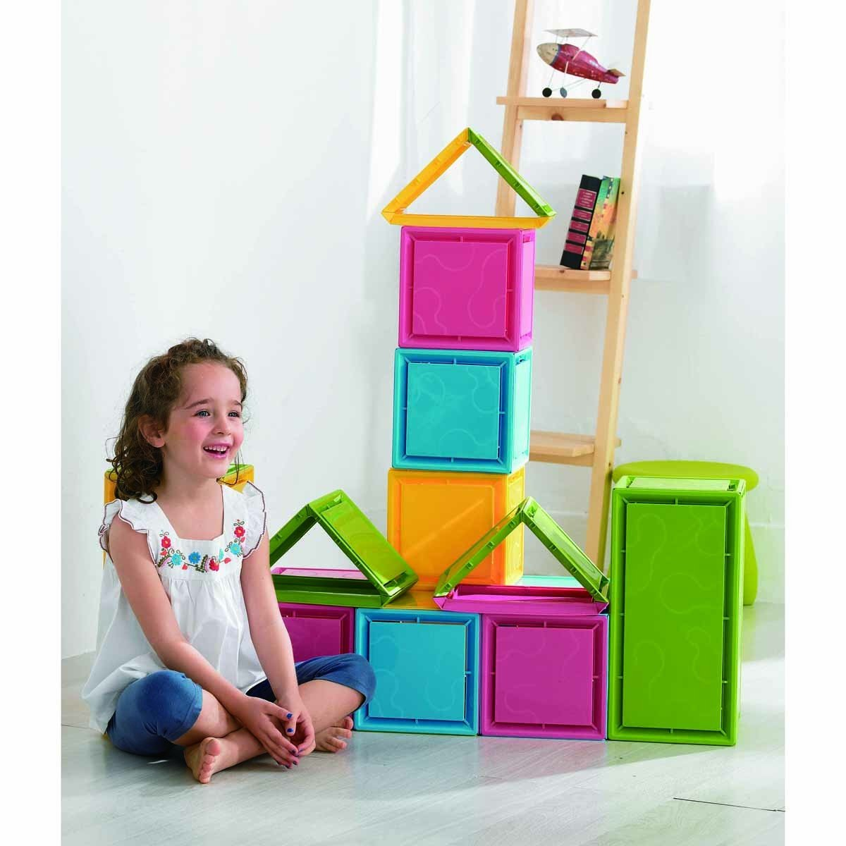 WePlay KC0003 - Stacking Blocks, 68-teilig
