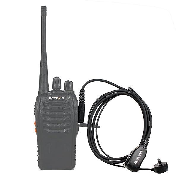 AURICULARES DE 2 PINES MIC PARA BAOFENG UV5R 888S RETEVIS H777 RADIOS KENWOOD