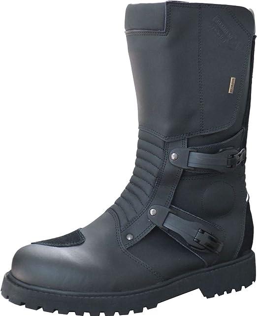 9021 Randonnée enduro bottes de moto en cuir noir taille 41-47 dakar