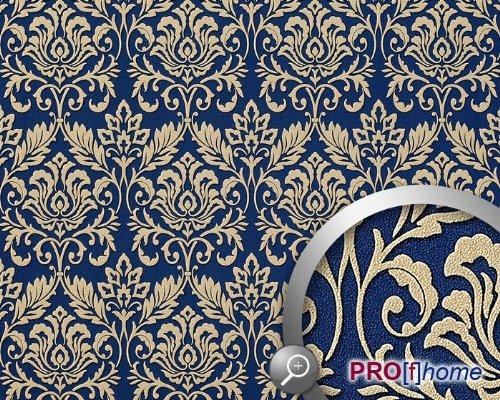 6163s%2BFUqrL - Barock Tapete Blau Gold