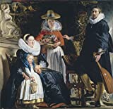 Oil Painting 'Jordaens Jacob The Painter's Family 1621 22 ' Printing On High Quality Polyster Canvas , 10 X 10 Inch / 25 X 26 Cm ,the Best Dining Room Decoration And Home Artwork And Gifts Is This Reproductions Art Decorative Prints On Canvas