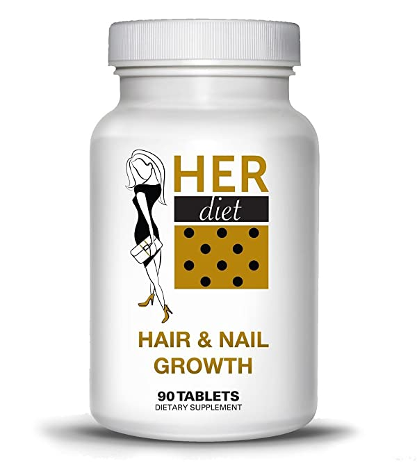 HERdiet Hair and Nail Growth for Women Extra Strength Supplement ...