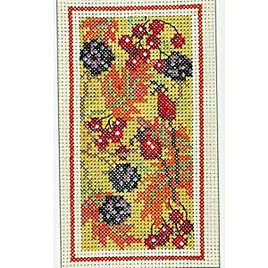 Derwentwater designs autumn hedgerow cross stitch kit for Cross stitch kitchen designs