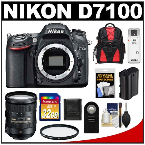 Nikon D7100 Digital SLR Camera Body with 18-200mm VR Lens + 32GB Card + Backpack + Battery + Filter + Accessory Kit promo code