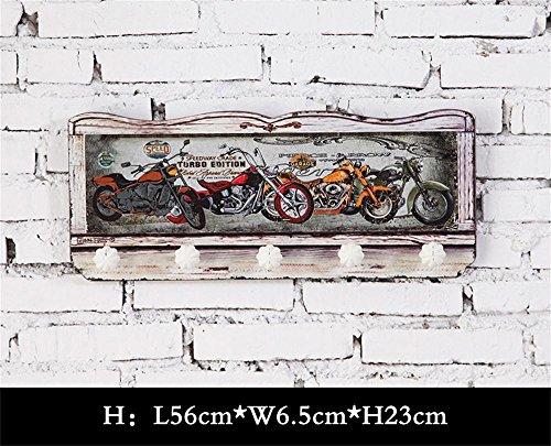 ALUK- ganci gancio American Retro cappotto portico in legno creative decorazioni casa ( MODELLO : H. )