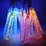 Battery Operated Water Bubble Stick LED Christmas String Lights - Multi Color String Light, 2 Work Modes Battery Box, 7.3ft Length 20 Cubes for Christmas, Holiday, Party, Event Decorative Lighting