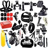 Gogolook 45-in-1 Outdoor Sports Accessories Kits for Gopro Hero 4/3/2/1 Common Camcorder Bundles for Other Action Camera