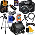 Fujifilm FinePix S9400W 16.2 MP Digital Camera with 50x Optical Image Stabilized Zoom and Full HD 1080i Videos (Black) + 4 AA Batteries with Quick Charger + 10pc Bundle 32GB Deluxe Accessory Kit w/ HeroFiber® Ultra Gentle Cleaning Cloth