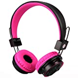 Mokata Foldable Headphones Wireless Bluetooth Headphones Over Ear Built-in Mic SD Card Slot 3.5mm Audio Jack Cable for TV PC Tablet iPhone iPod Cellph