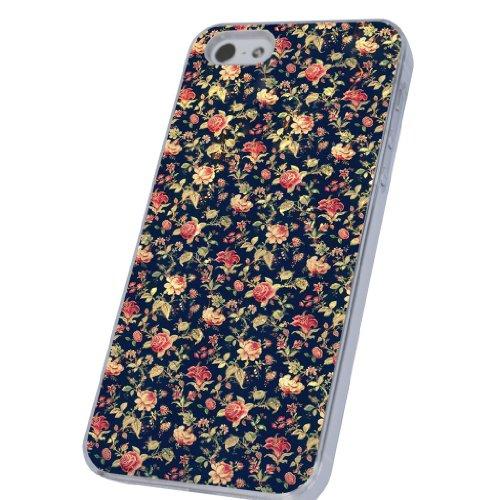 Vintage Shabby Chic Roses Flowers Stil Designer iphone 5 5S Hülle Case Back Cover Metall und Kunststoff-Löschen Frame