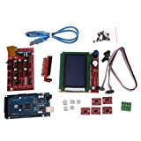 Alloet New 3D Printer Kit RAMPS 1.4 MEGA2560 A4988 LCD 12864 Controller Board for RepR
