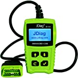 JDiag JD101 OBD2 Code Reader Car Scanner Diagnostic Tool Engine Fault Code Reader Check Engine Light Clear Fault Codes OBDII EOBD Vehicles with Battery Testing Function