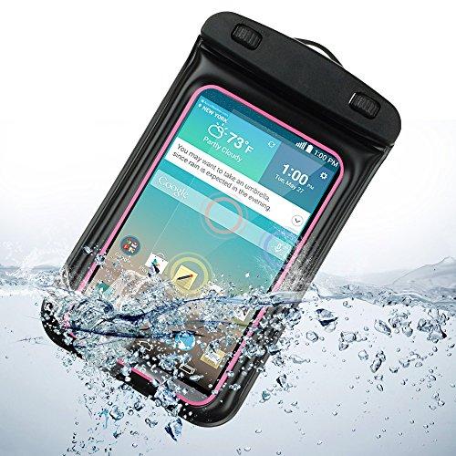 Universal Waterproof Case Carrying Bag For Lg G3 Lg-F400 32Gb / Lg G2 (Verizon Wireless, At&T , Sprint) (Rose)