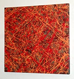 Abstract Expressionism Action Painting ~ Modern ART Piece Titled: ROSES ARE RED - BLOOD IS TOO