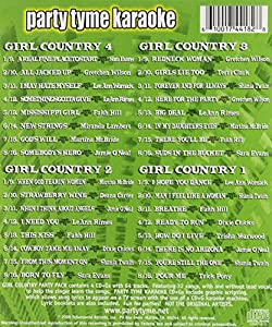Party Tyme Karaoke - Girl Country Party Pack (32+32-song Party Pack) [4 CD]